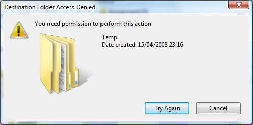 Cannot Delete Folders in Windows Vista | Clive Ciappara ...